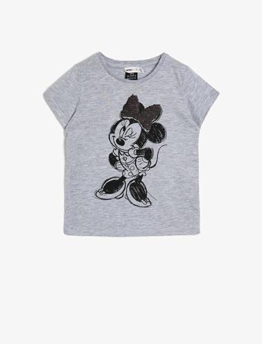 Koton Kids Minnie Mouse Lisansli T-Shirt Gri